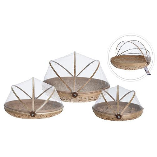FOOD COVER BAMBOO SET 3PCS KOP-318