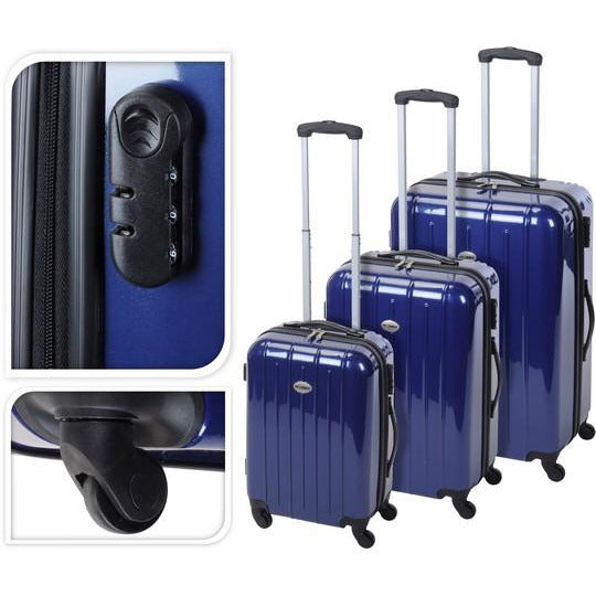 TROLLEY SET OF 3 PCS ROYAL BLUE KOP-078