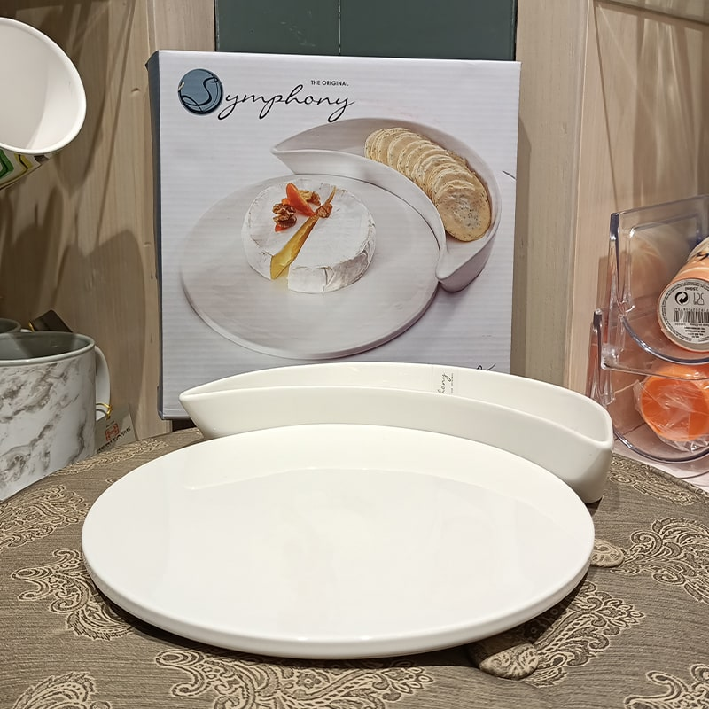Porcelain Circle Serving Set