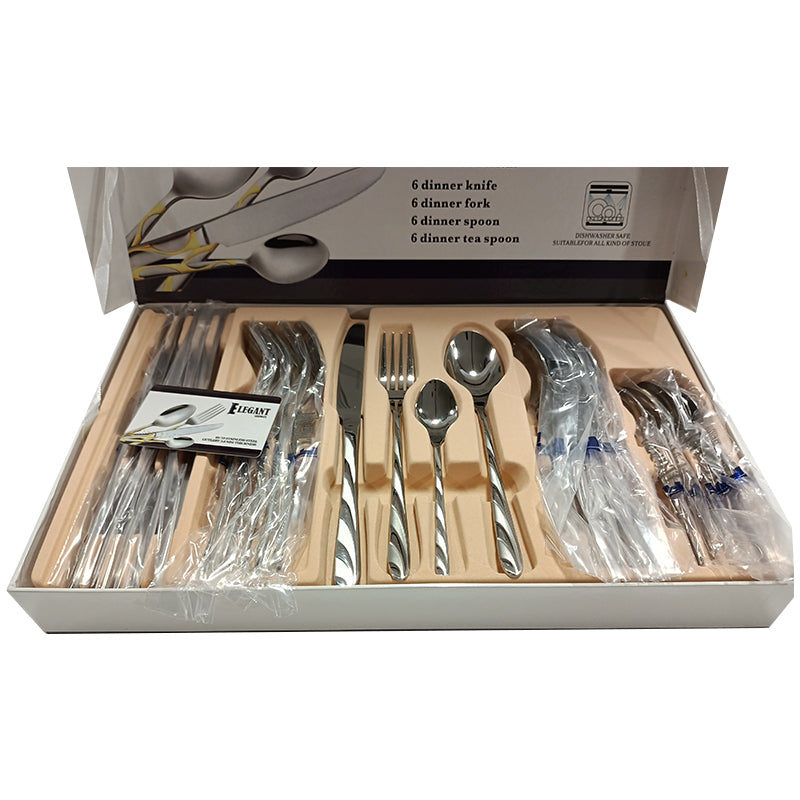 24 Pieces Cutlery Set
