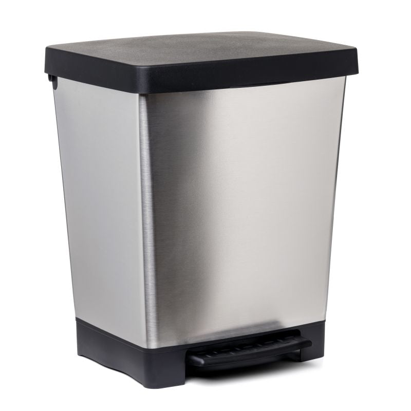 PEDAL DUST BIN CUBIK - STEEL GREY - TAT-565
