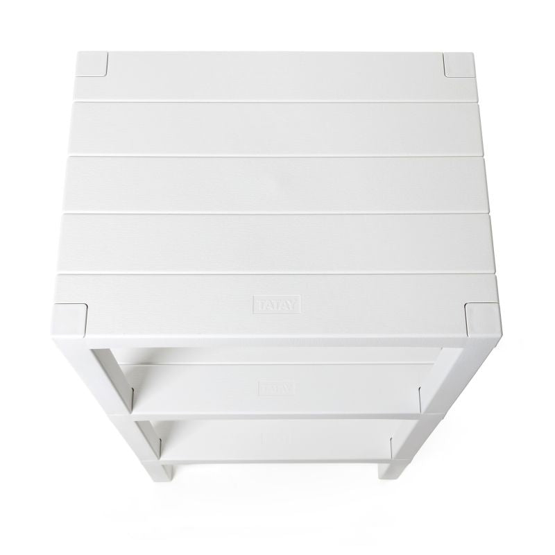RECTANGULAR RACK LOMBOK 3 LEVELS WHITE - TAT-594