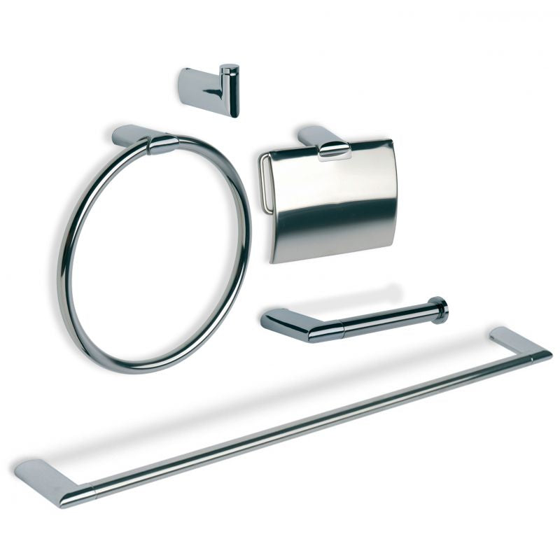 Ronda Zamak/Stainless Steel Whole Bathroom Set