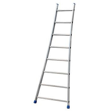 SINGLE ALUMINIUM FLARED BASE LADDER 8 STEP GIE-022