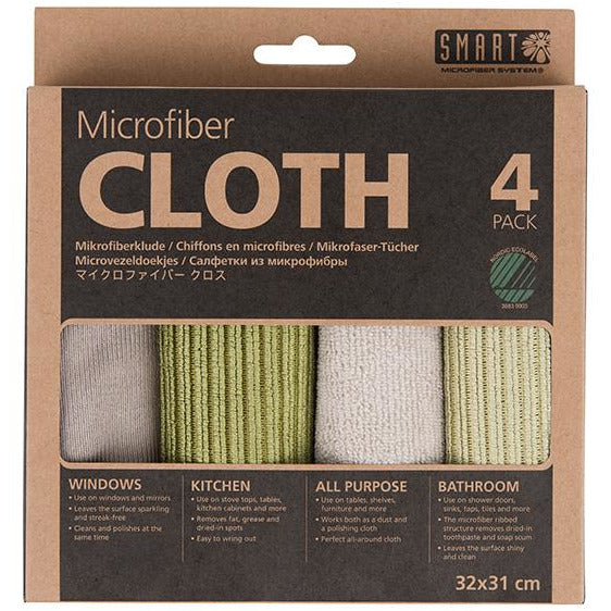 MICRO FIBER CLOTH 4 PACK GREY/GREEN - SMT-036