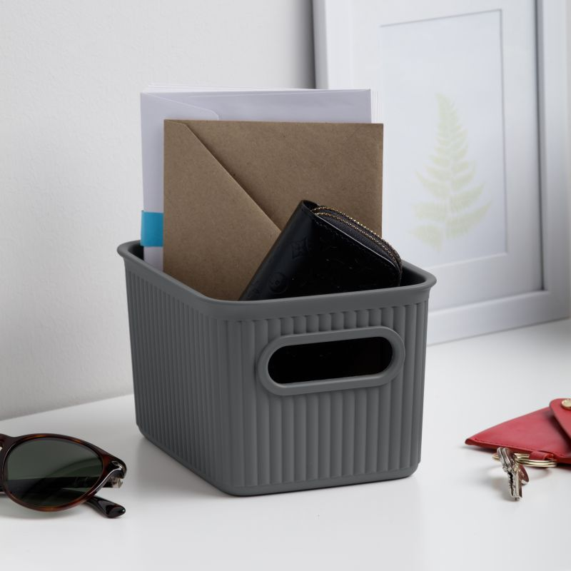 STORAGE BASKET S 1,5L BAOBAB ANTHRACITE GREY - TAT-623