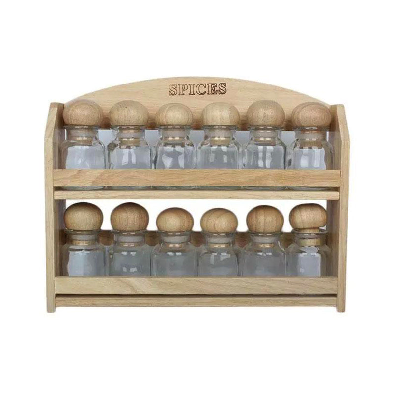 Spice Rack with Set of 12 Cruets