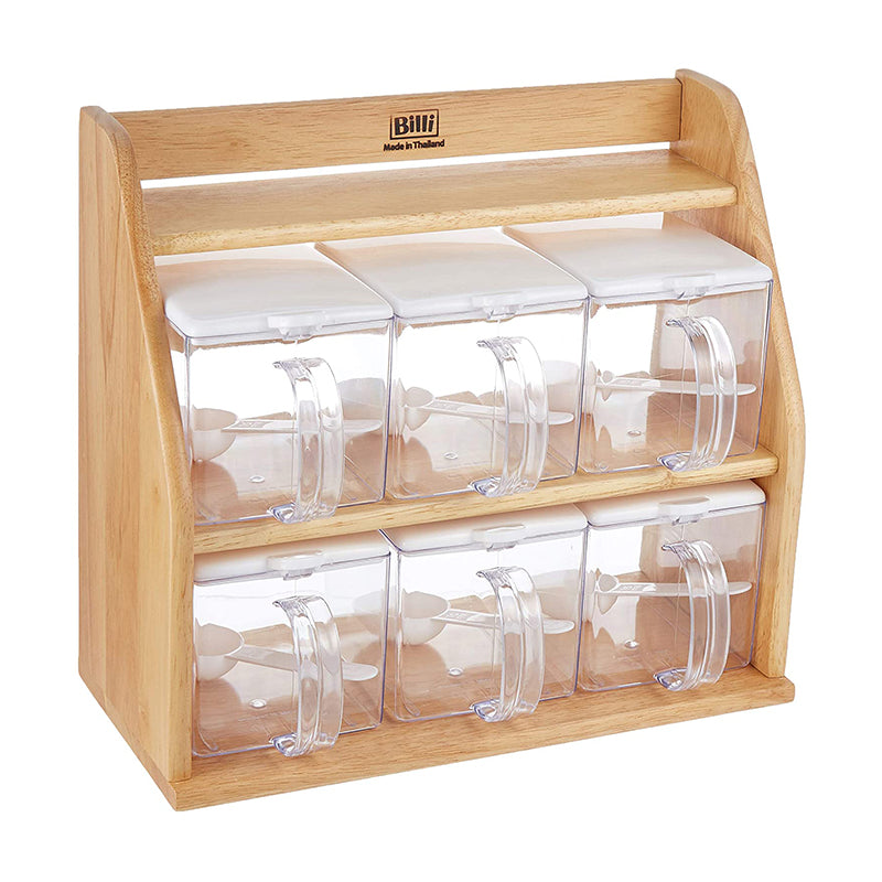 Stocker Set with Wooden Stand - 6 Pieces