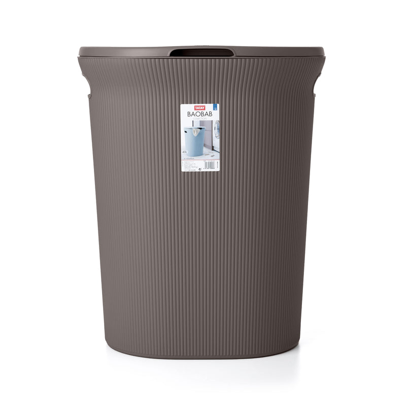 LAUNDRY HAMPER 40L BAOBAB BROWN - TAT-558