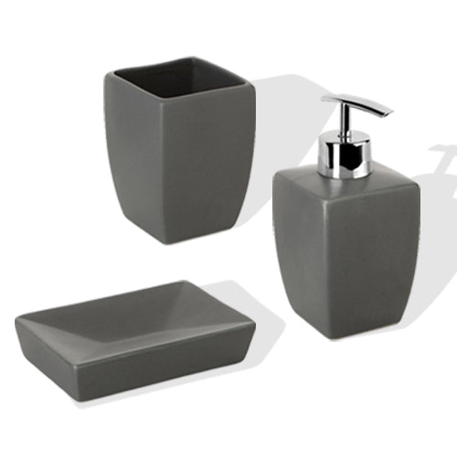 THAI ANTHRACITE BATHROOM SET