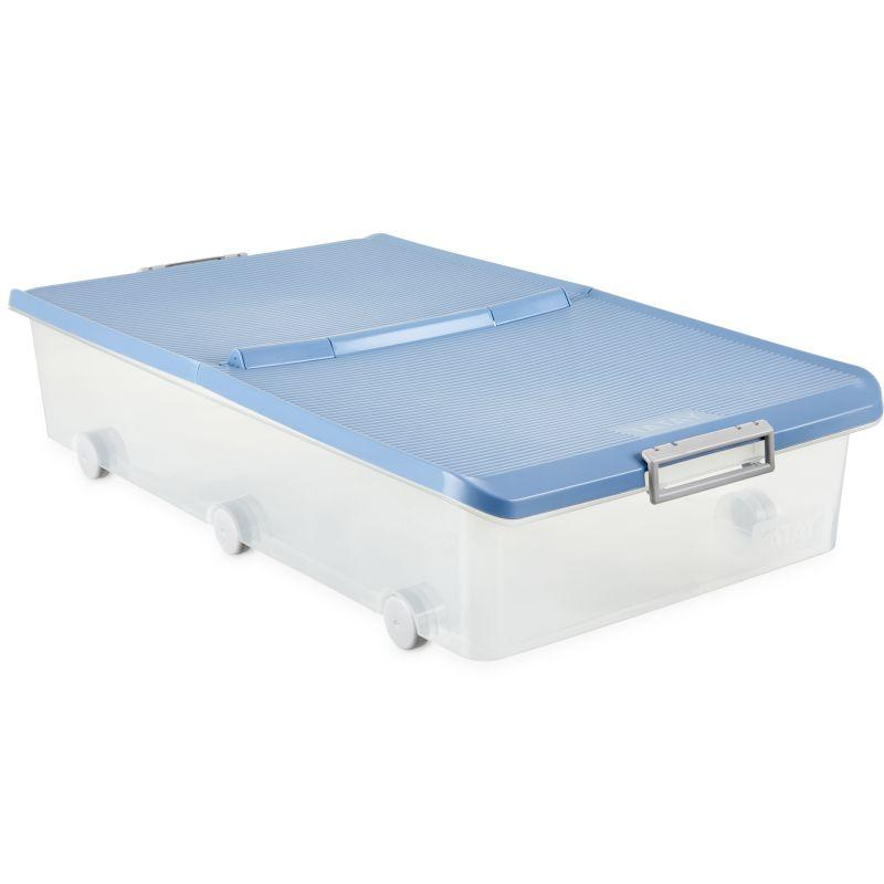 UNDERBED STORAGE BOX W WHEELS BLUE - TAT-327