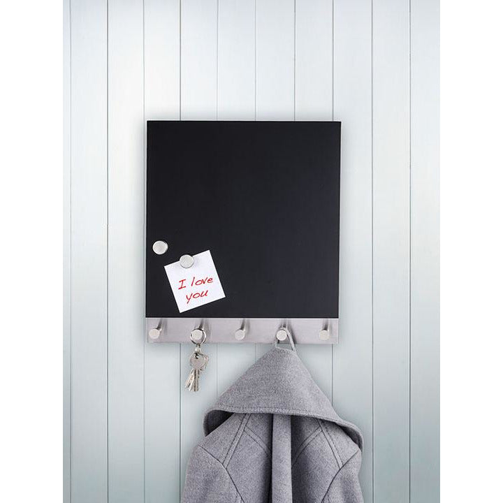 Magnetic Coat Rack/ Key holder Black WEN-329