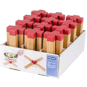 Trivet Cross Bamboo Red WEN-388