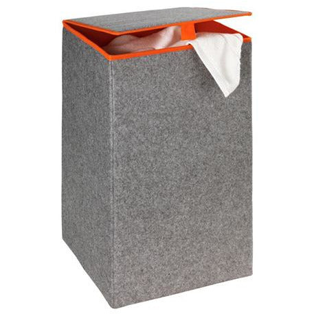 Laundry Bin Felt Uno Grey/Orange