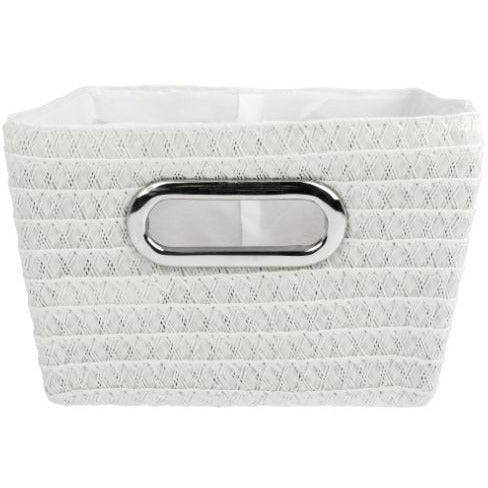 Bathroom basket chromeo, white