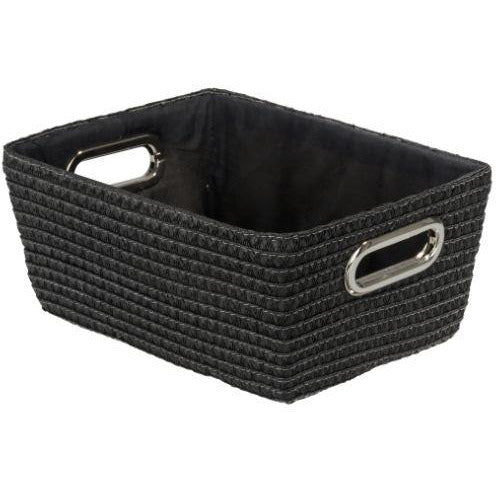 Bathroom basket chromeo, black