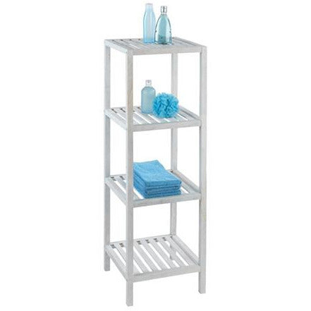 4-tier shelving unit Norway, natural white