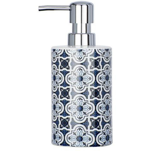 Ceramic Soap Dispenser Murcia, blue