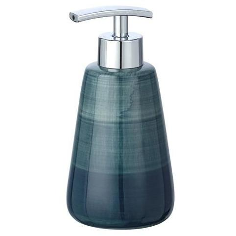 Ceramic Soap Dispenser Pottery, petrol
