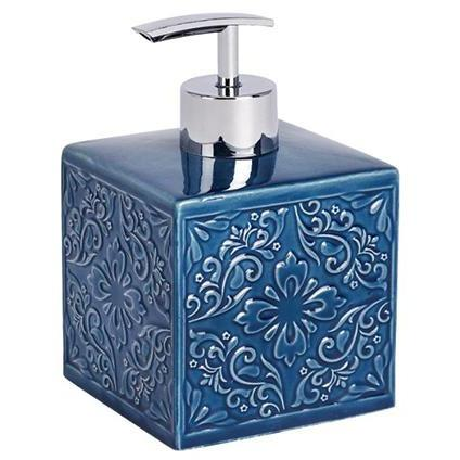 Ceramic Soap Dispenser Cordoba, dark blue