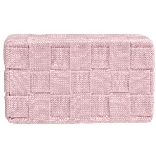 Bathroom organizer Adria mini with lid, pink