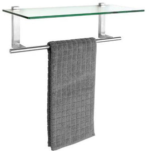 Wall shelf w. towel holder Venosa