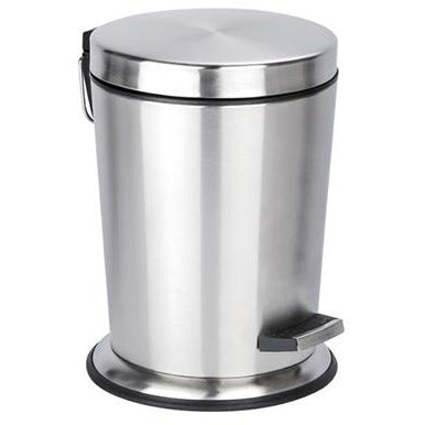 Stainless St.Pedal Bin Easy Cl.,5l,conic