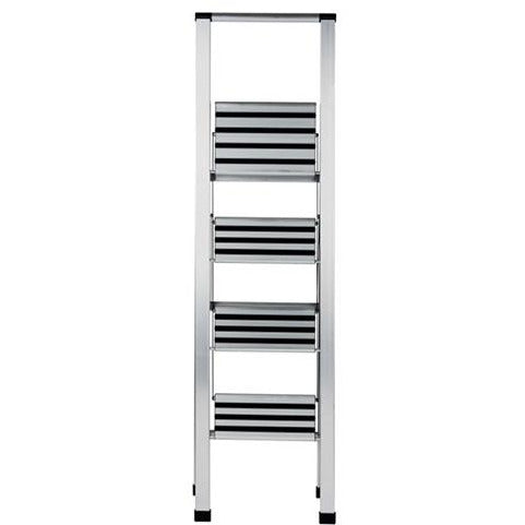 Folding Step Ladder Aluminum 4 Steps