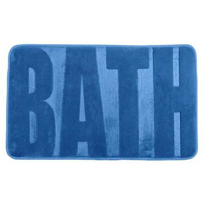 Bath mat Memory Foam, Bath fjord blue