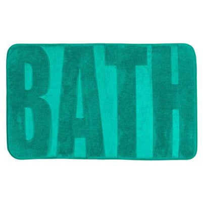 Bath mat Memory Foam, Bath emerald green