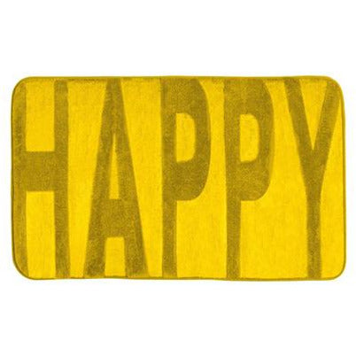Bath mat Memory Foam, Happy mustard