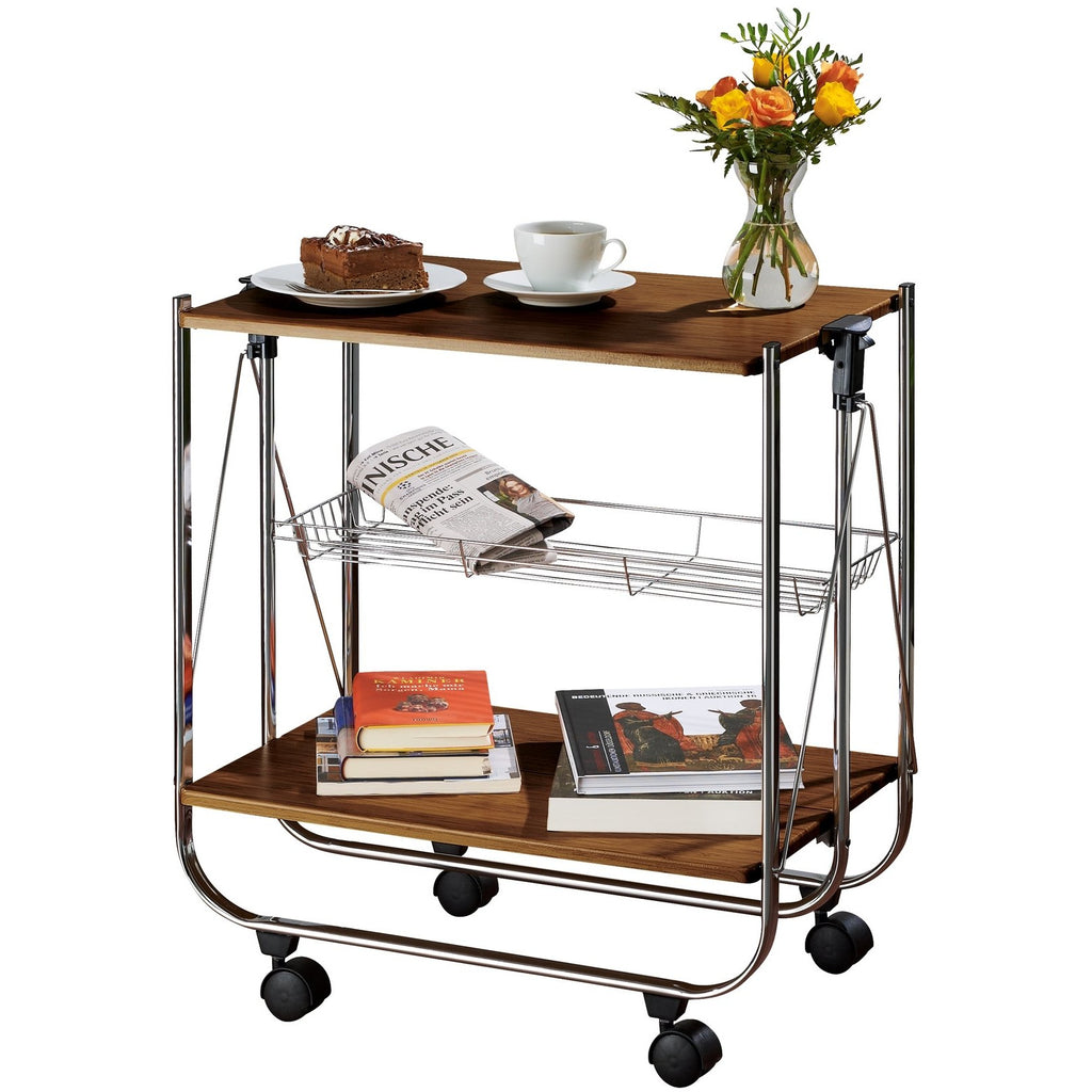 Dinette Serving Trolley Deluxe Walnut