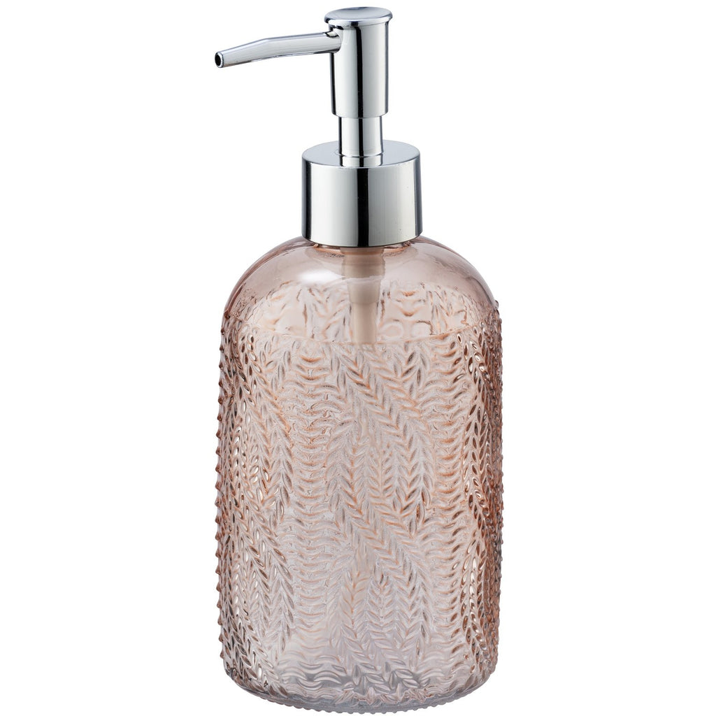 Soap Dispenser Mod. Vetro, round, rose