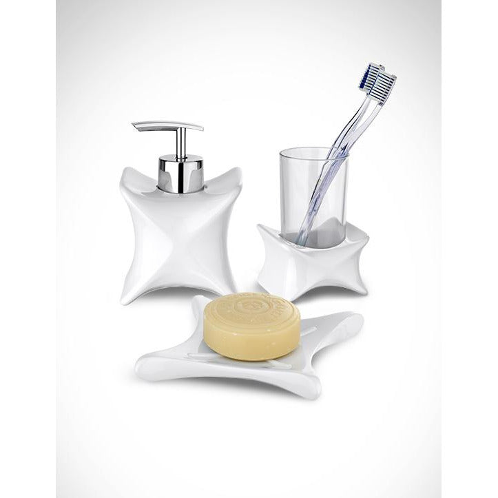 03 Piece X-Form White Bathroom Set WEN-001