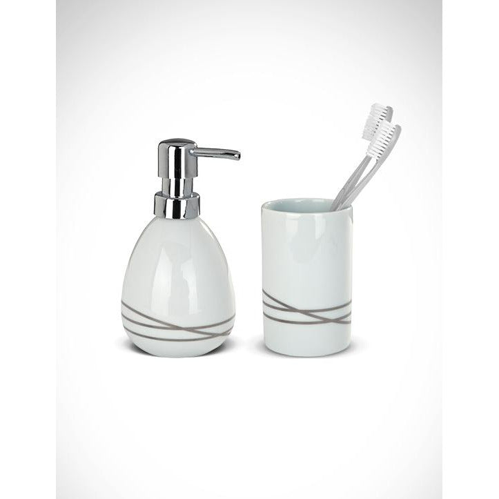 02 Piece Ceramic Noa Bathroom Set WEN-076