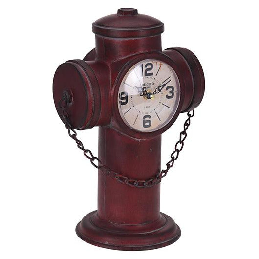TABLE CLOCK IRON 22X15X32CM KOP-376