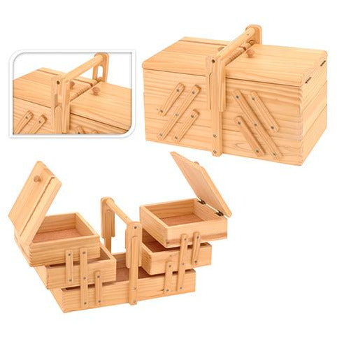SEWING BOX WOOD KOP-227