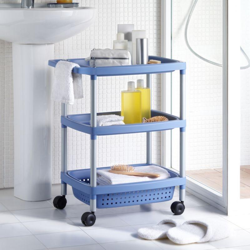 BATHROOM TROLLEY BLUE TAT-120