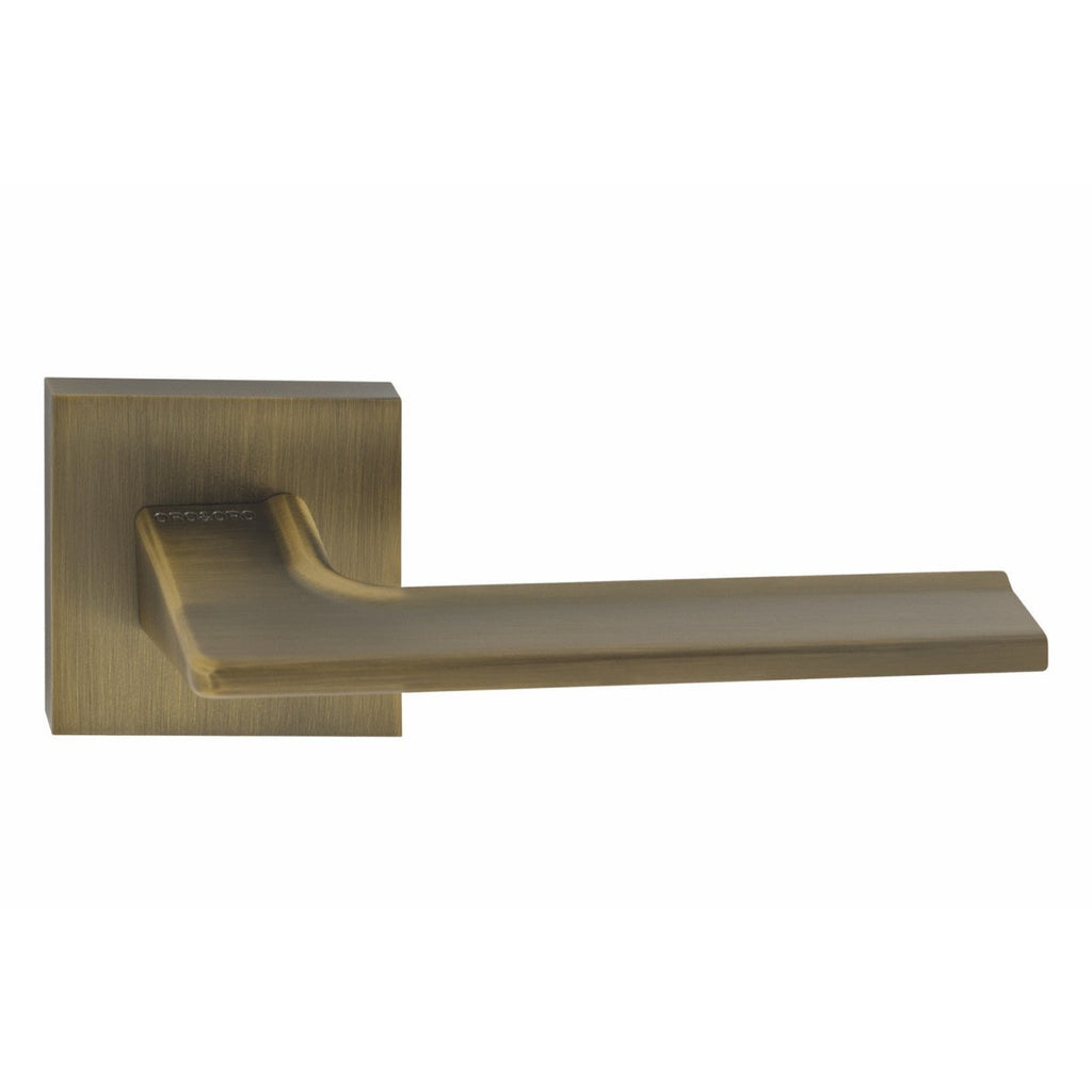 Handle on Straight Square Rose w/ Straight Square Key Escutcheons WAB