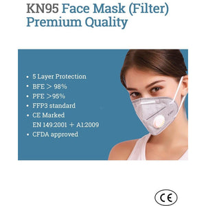 KN95 MASK WITH FILTER