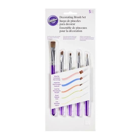 DECORATING BRUSH SET 5PC