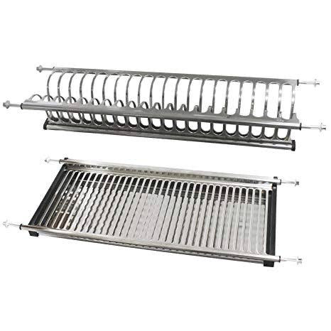 PLATE RACK WITH DRAIN TRAY
