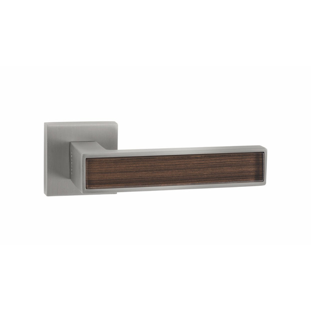 Handle on Straight Square Rose w/ Straight Square Key Escutcheons MSN - BROWN ELEGANCE