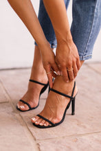 Load image into Gallery viewer, Besos Black High Heel Sandals