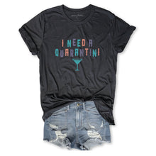 Load image into Gallery viewer, Limited: I Need A Quarantini ...Unisex Vintage Dark Grey  Triblend Tee