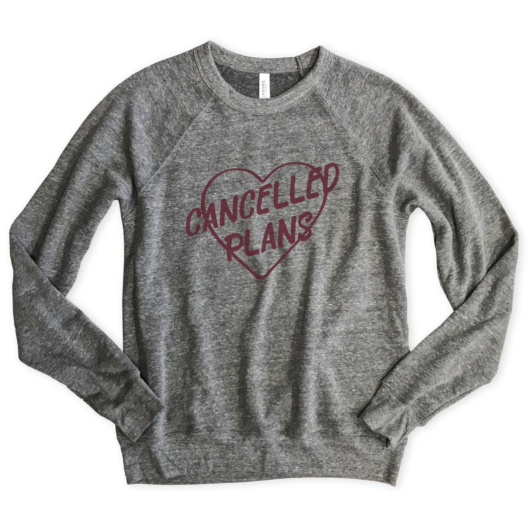 Cancelled Plans Unisex Raglan Sweatshirt