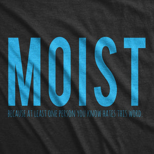 Moist One Person You Know Hates This Word Men's Tshirt