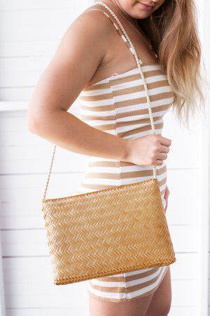 Vintage Grove Woven Bag - Natural - aster + lilou
