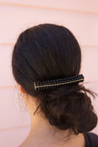 With Grace Hair Clip - Black - aster + lilou