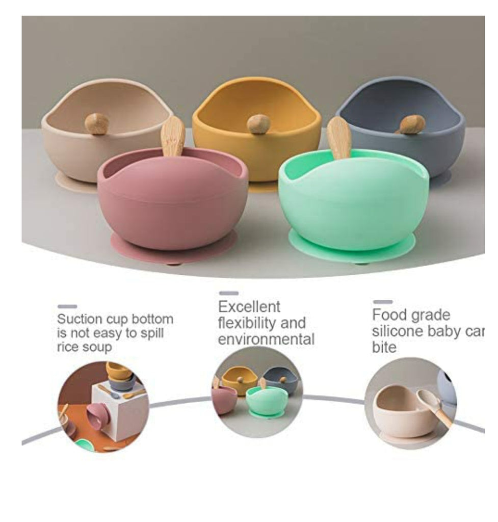 Silicone  feeding weaning sunction Bowl